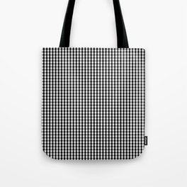Classic Small Black & White Gingham Check Pattern Tote Bag