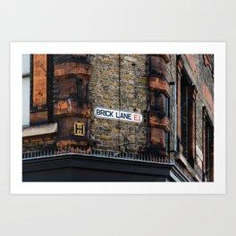 Brick Lane Sign Art Print
