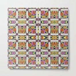 Floral Garden Pattern Metal Print