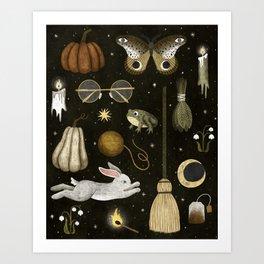 october nights Art Print