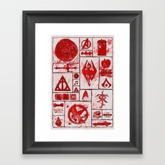 Fandoms that Kill Framed Art Print