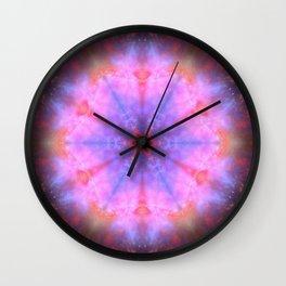 Luminous Flower Mandala Wall Clock