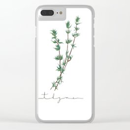 Watercolor Thyme Kitchen Art Print Clear iPhone Case