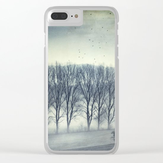 Trees in Mist Clear iPhone Case
