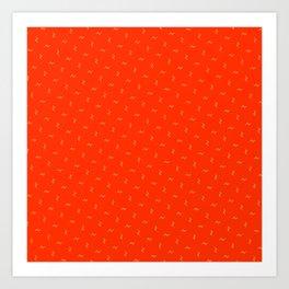 Bright Orange Sun-kiss Pattern Art Print