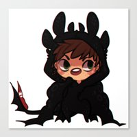 hiccup Canvas Prints featuring httyd2 onsies - Hiccup by Pris