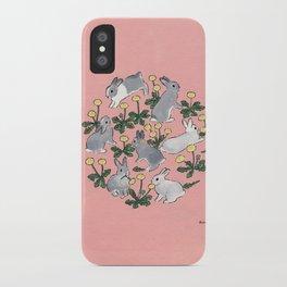 Bunnies love dandelions iPhone Case