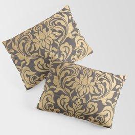 Gold swirls damask #9 Pillow Sham