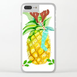 holiday pineapples Clear iPhone Case