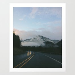 Evening Drives in the Columbia River Gorge Art Print