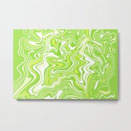 Green Liquid Agate Metal Print