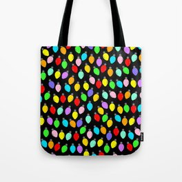 Christmas Lights 4 (In Colour on Black!) Tote Bag