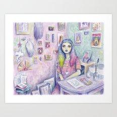 My Studio Art Print