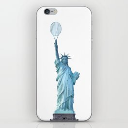 Statue of Liberty with Tennis Racquet iPhone Skin