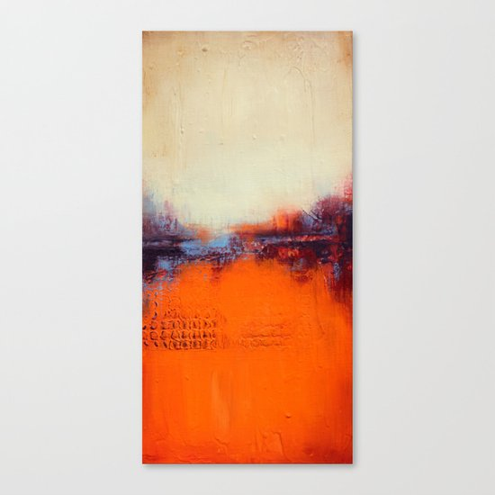 Orange and White Canvas Print