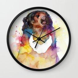 malayan sun bear Wall Clock