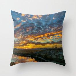 Back Bay Sunrise Colors v Throw Pillow