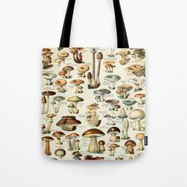 Vintage Mushroom & Fungi Chart by Adolphe Millot Tote Bag