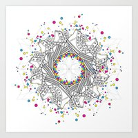 Mandala shoes Art Print