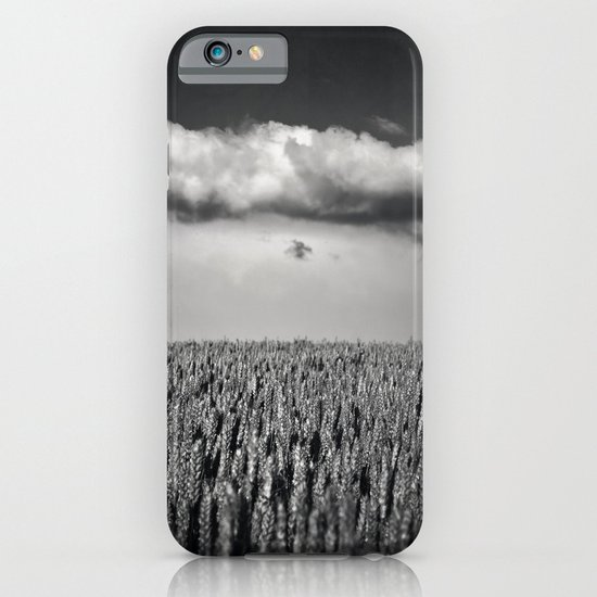 cloud over wheat field iPhone & iPod Case