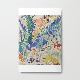 Matisse Exhibition Poster, Landscape at Collioure, Matisse Print, Expressionism, Fauvism, Matisse Collioure, Home Decor, 1905 Metal Print