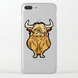 SCOTTISH HIGHLAND COW Scottland beef cattle bison Clear iPhone Case