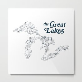 The Greatest Lakes Metal Print