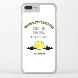 Two Birds, One Stone Clear iPhone Case