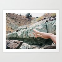 Blue Basin  Art Print