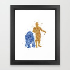 C3PO and R2D2 Star . Wars Framed Art Print