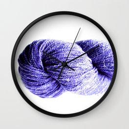 Purple Yarn Wall Clock