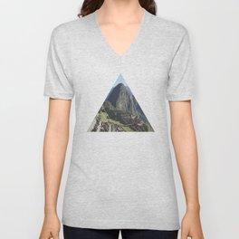 Machu Picchu - Geometric Photography Unisex V-Neck