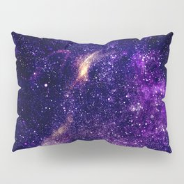 Ultra violet purple abstract galaxy Pillow Sham