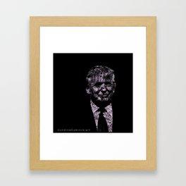 Metropolis Trump. Framed Art Print