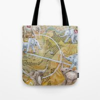 football Tote Bags featuring Football by Ruta13