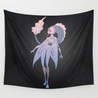 aquarius Wall Tapestries featuring Aquarius by Sarah Pain