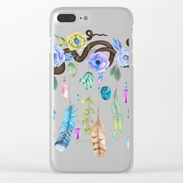 Wild Wood Roses And Twisted Branches Spirit Gazer Clear iPhone Case