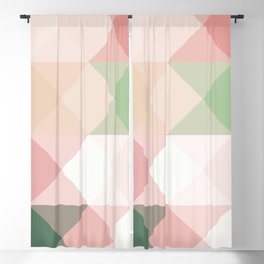 Modern blush tones pink abstract geometrical triangles Blackout Curtain