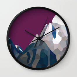 Geo Mountain Range (Part 3) Wall Clock