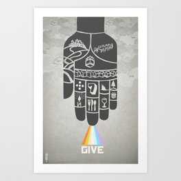 Poster Project   Hospitality Hand Art Print