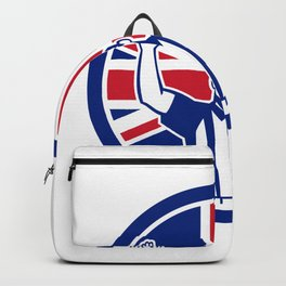 British American Football Referee Union Jack Flag Icon Backpack