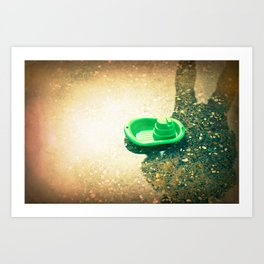 Puddle Sailor Art Print