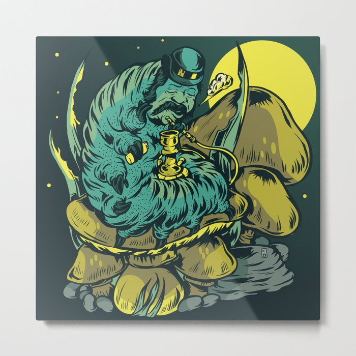 The Night Of The Caterpillar Metal Print