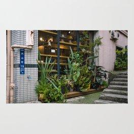 Outdoor plants decor in Shibuya Rug