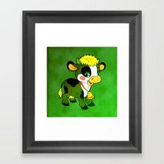Childhood Cow Framed Art Print