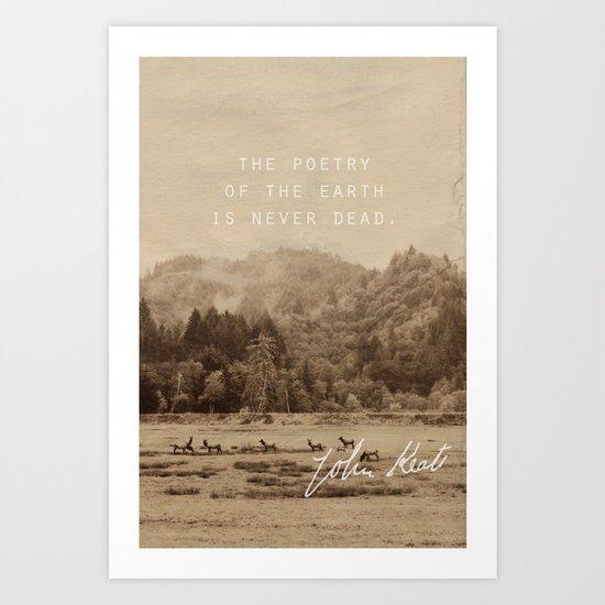 Keats: Poetry Art Print