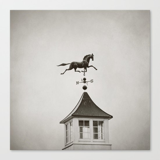 Horse Weathervane Canvas Print