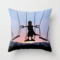 magneto Throw Pillows featuring Magneto Kid by Andy Fairhurst Art