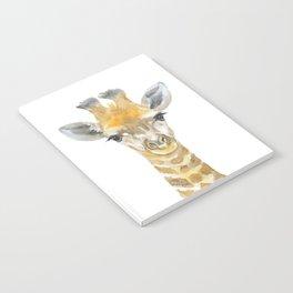 Baby Giraffe Watercolor Notebook