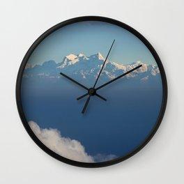 HIMALAYAN SKY ABOVE THE CLOUDS Wall Clock